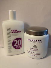 PRAVANA PURE LIGHT POWDER LIGHTENER & 20 VOLUME CREME DEVELOPER