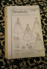 simplicity 2354 historical pilgrim costume pattern size 18-24 no outer envelope