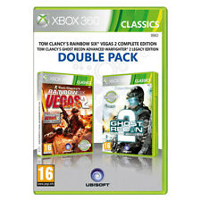RAINBOW SIX VEGAS 2   +  GHOST RECON ADVANCED WARFIGHTER 2   --   pour X-BOX 360