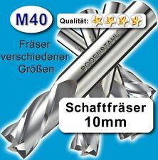 Fräser 10mm 2S.75mm Edelstahl Alu Messing Kunstst. hochlegierte Qualität M40