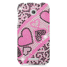 For HTC Desire 510 Crystal Diamond BLING Hard Case Snap On Phone Cover Accessory