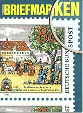 Briefmarken 1984, Sammler-Magazin der Bundespost, 32 Seiten A4, s. Inhaltsverz.