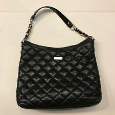 "Authentic kate spade Gold Coast ""Serena"" Quilted Leather Handbag, Black"