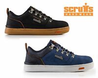 SCRUFFS DAKOTA Safety Work Trainers Shoes Leather Steel Toe Cap