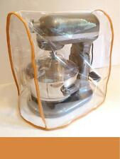 CLEAR MIXER COVER fits KitchenAid Bowl Lift - ORANGE Trim - (5 - 6 Qt. mixer)