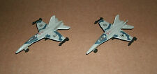 Two 1/200 Scale F-18 Hornet Fighter Jet Aircraft Replica F/A - 18 Supersonic Jet