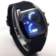 Mens Dot Matrix Sports Watch With Ultra Blue LED's