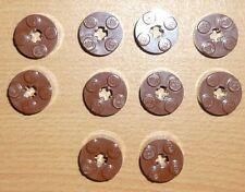 Lego 10 runde Steine 2 x 2 in neu braun