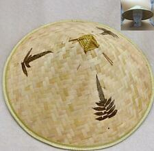 Chinese Oriental Vietnamese Asian Cone Garden Fishing Sun Bamboo Adult Cap Hat !