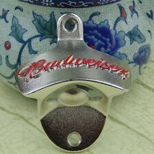 red BUDWEISER wall mount ( mounted ) bottle opener beer open bottle here openers
