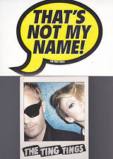 THE TING TINGS 2 STICKERS Official Promo MINT WE STARTED NOTHING HANDS Original