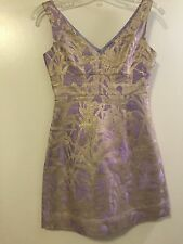 Kate Spade dress size 4 Purple and Gold