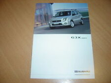 CATALOGUE Subaru G3X Justy de 2003