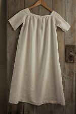 Linen French chemise nightdress CHILD's nightgown gown c 1860 clothing