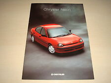 CHRYSLER NEON UK SALES BROCHURE - DATED MAY 1996
