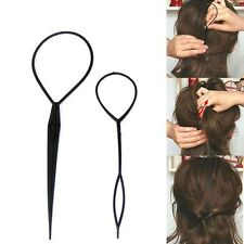 Set of 2 Pcs Fashion Topsy Tail Hair Braid Pony Tail Maker Styling Tool Salon Y2