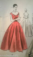 Vintage 50's VOGUE SPECIAL DESIGN S-4366 EVENING/WEDDING DRESS sewing pattern
