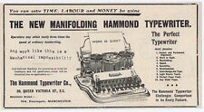 Hammond Typewriter Co Queen Victoria Street London - Antique Advert 1904