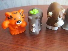 LOT: 10 Fisher Price LITTLE PEOPLE Figures ZOO ALPHABET LETTER ANIMALS