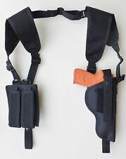 Shoulder Holster with Dbl Mag Pouch for RUGER P93, P95, P97, P345 Vertical Carry