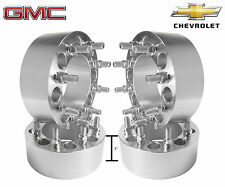 "4 8x6.5 to 8x6.5 3"" Inch Wheel Spacers Adapters Fits Chevy Silverado 2500 3500"