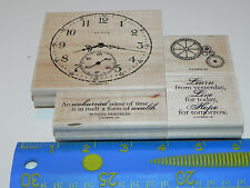 Stampin Up Sense of Time Stamp Set of 4 Clock Face Gears Live for Today Hope