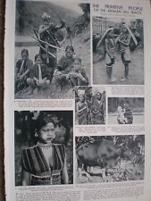 Photo article the people of the Arakan Hill Burma 1935