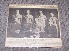 1914 Pittston PA's Champion Basket Ball Aggregation Newspaper Photo