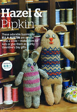 ~  Pull-Out Knitting Pattern For Adorable Shabby Chic Toy Rabbits To Knit ~