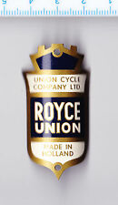 Vintage ROYCE UNION LTD. Bicycle Cycle Head Badge Fahrrad Abzeichen