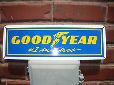 GOODYEAR TIRE #1 Tires SIGN Mechanic Racing Shop Garage Ad Logo Free Ship