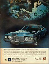 Vintage ad for 1972 Cadillac/Blue/2-door (021013)