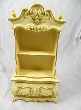 Vtg 60s Barbie Doll Suzy Goose Hutch French Provincial Furniture Shelf Cabinet