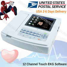 Touch Portable Digital 12-channel 12-lead Electrocardiograph ECG Machine EKG,USA
