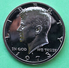 1973 S Proof Kennedy Half Dollar Coin 50 Cent JFK from Proof Set