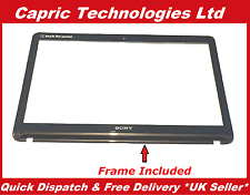 "Genuine 15.6"" Sony Vaio SVF1521C2EW Touch Screen Digitizer Glass Bezel Frame"