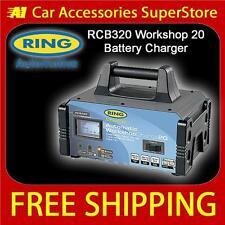 RING RCB320 20 Amp Workshop Fast Auto Battery Charger Engine Jump Starter 12v