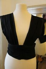 Antique Victorian Edwardian 1920s black bodice basque undergarment corset