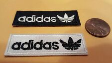 "2  - ADIDAS PATCH LOT  Logo PATCH embroidered iron on Patches patch 2"" x  1/2"
