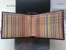 Paul Smith Signature Stripe Wallet - Damson Leather -