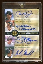 09 ULTIMATE QUAD AUTO #D /10 CAL RIPKEN JR - BROOKS ROBINSON - JIM PALMER - NICK