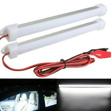 2 x 12V Car 24LED SMD Interior Light Bar Tube Strip Lamp Van Boat Caravan