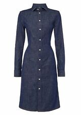New Polo Ralph Lauren Women's Denim Shirt Dress Blue Size 8