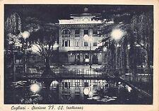 118) CAGLIARI STAZIONE FF.SS NOTTURNO. VIAGGIATA NEL 1942 (?)