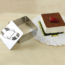 New Cake mold Stainless Steel Small Mousse Ring with Push Piece Tiramisu Cutter