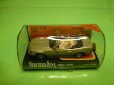 NEW-RAY 48439 MERCEDES BENZ 600SL - CHAMPAGNE 1:43 - GC IN SHOW-CASE