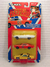 General Lee THE DUKES OF HAZZARD County Hot Pursuit Set 3-Car 1:64 DieCast ERTL