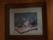 Home Interior Vintage pic of cutting board w onion, tomatoes & grapes by Lucas