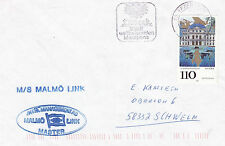 SWEDISH FERRY MS MALMO LINK A SHIPS CACHED COVER