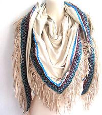 ⊱✿ Ibiza Fashion ✿⊰ Lagenlook Dreieckschal Schal Tuch Fransen